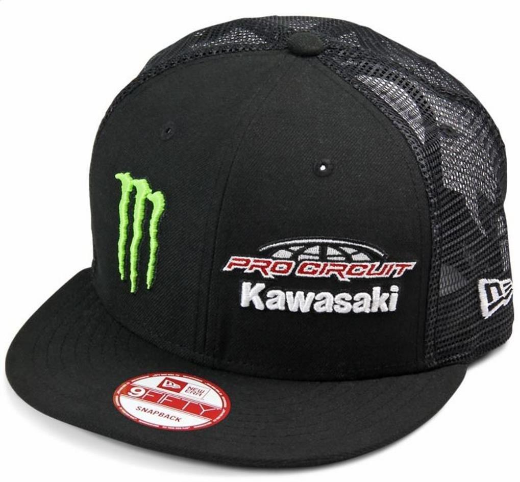 Amazon.com  Kawasaki Team Pro Circuit Monster Energy Adjustable Team  Trucker Hat Black  Automotive 32c8d90e2024