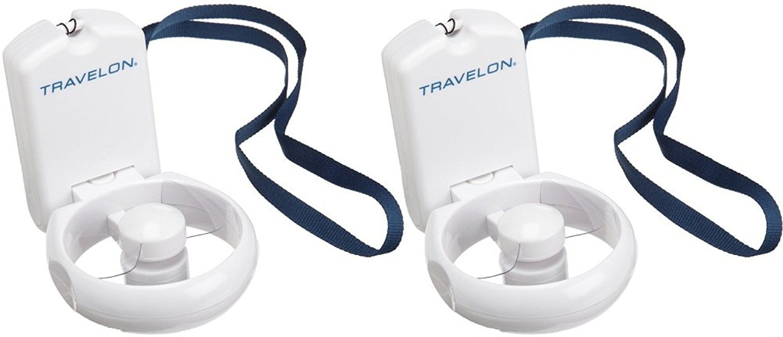 Travelon 3-Speed Folding Fan, White, One Size 12267-White-One Size