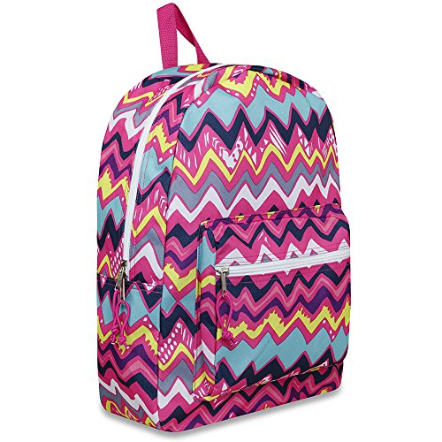 Trailmaker 17 Inch Super Popular Girls Backpack for Summer Camp, School, Travel, Outdoors and More! Chevron