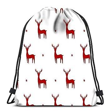 Elk Art Drawstring Backpack Rucksack Shoulder Bags Training Gym Sack For Man And Women