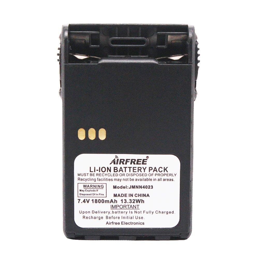 JMNN4023 JMNN4024 1800mAh Li-ion Two Way Radio Battery Replacement for Motorola PRO5150 Elite PRO7150 Elite EX500 EX560 EX560XLS EX600 EX600XLS GL2000 GP328 Plus GP338 Plus PTX700 Plus PTX760 Plus Aimtobest