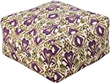 Surya Contemporary Square pouf/ottoman 24''x24''x13'' in Purple Color From Surya Poufs Collection