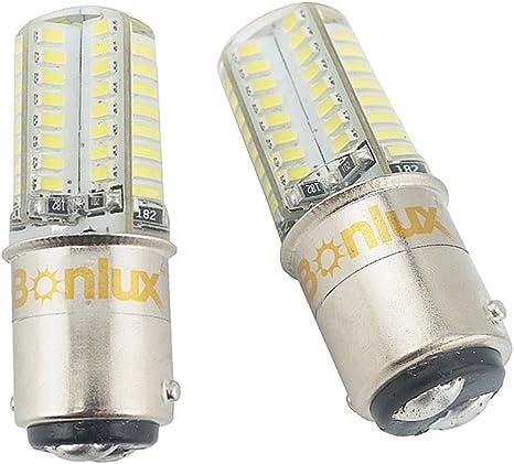 BlyilyB BA15D 1004 1076 1130 1142 1176 LED Bulb Bright White Interior LED Light Bulb for Car Trailer Marine RV Camper Boat As Tail Light Pack of 6