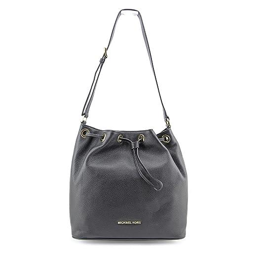 MICHAEL Michael Kors Women\u0027s Jules Large Drawstring Bucket Bag, Black, One  Size