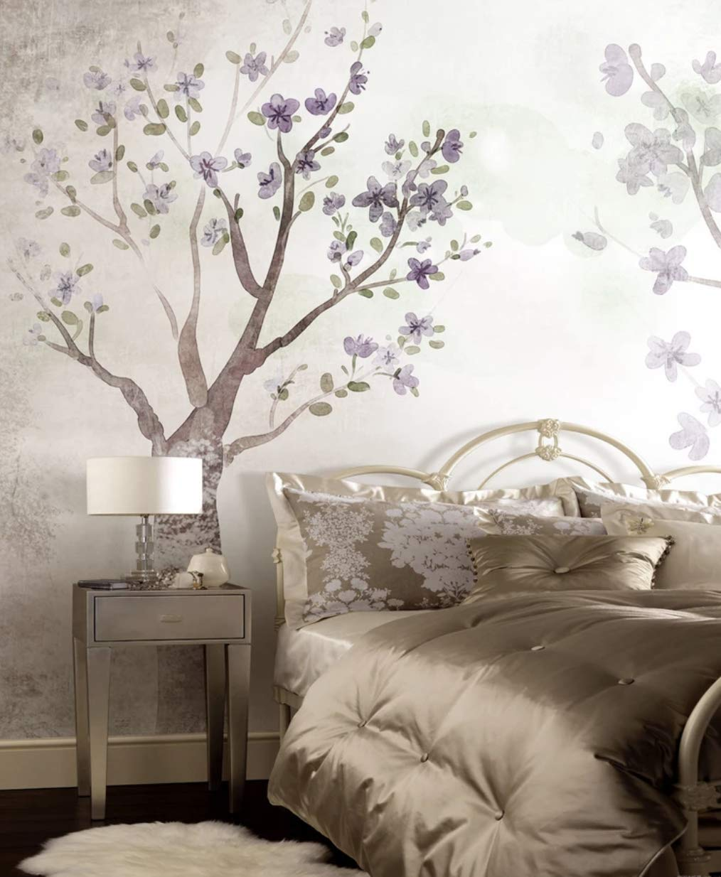 Amazon com murwall floral wallpaper magnolia blossom wall