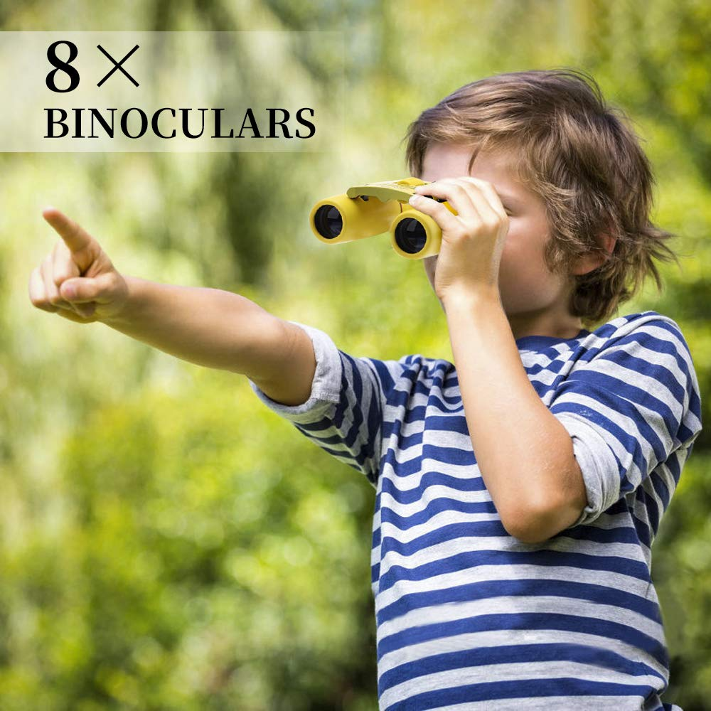 Morpilot Kids Explorer Kit Adventure Toys Christmas Birthday Gifts- Binocular,Flashlight,Compass,Magnifying Glass,Whistle,Bugs Collector and Drawstring Backpack for 3-10 Years Old Boys Girls Camping and Hiking Bird Watching