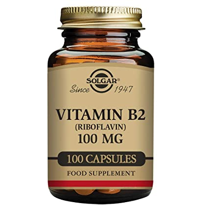 Solgar Vitamin B2 100 mg Vegetable Capsules (Riboflavin) - 100 capsules