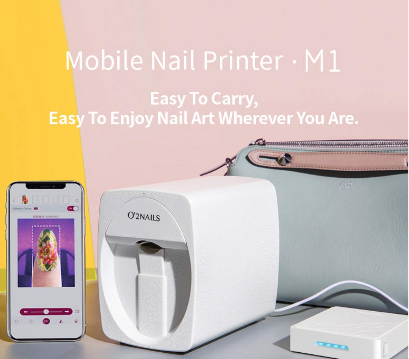 Amazon.com: Máquina para pintar uñas O2 Nails M1 3D ...