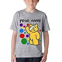 Spotty Day Children in Need Kids Boys Girls Bear Pudsey T Shirt School