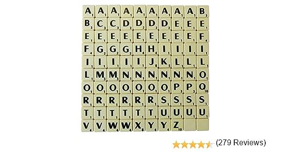 NMIT - Letras de plástico para Estampar (100 Unidades), Color Marfil: Amazon.es: Juguetes y juegos