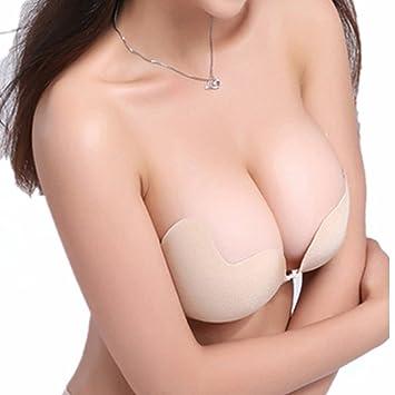 cosanter Self Adhesive silicona Push Up Sujetador sin espalda sin tirantes para ropa de noche Ball Vestidos Vestidos de novia, beige, medium: Amazon.es: ...