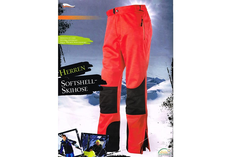 Herren Softshell Skihose Snowboardhose Schneehose Bionic Finish Eco Winddicht