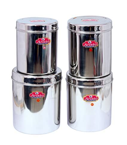 Buy Aristo Jumbo Stainless Steel Containers 3 5 6 4 L Silver Set