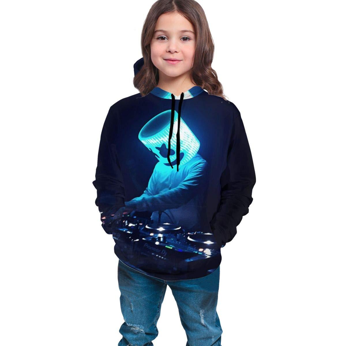 ALVHT Teen 3D Marshmellow DJ-Smile Hoodie Sweatshirt for Fashion Boys Girls