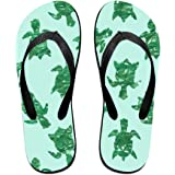 528371ac025427 Blue Sea Turtle Unisex Fashion Beach Slipper Indoor And Outdoor Classical  Flip Flops Thong Sandals