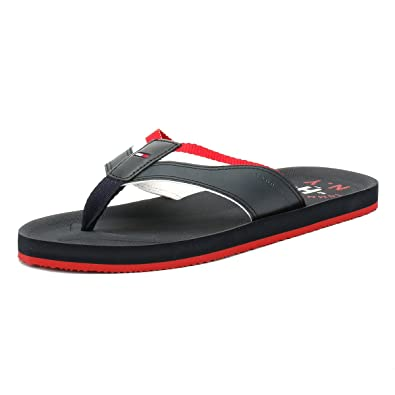 c95dd585ee9f Tommy Hilfiger Men s Mix Webbing Synthetic Beach Sandal Midnight-Midnight-11