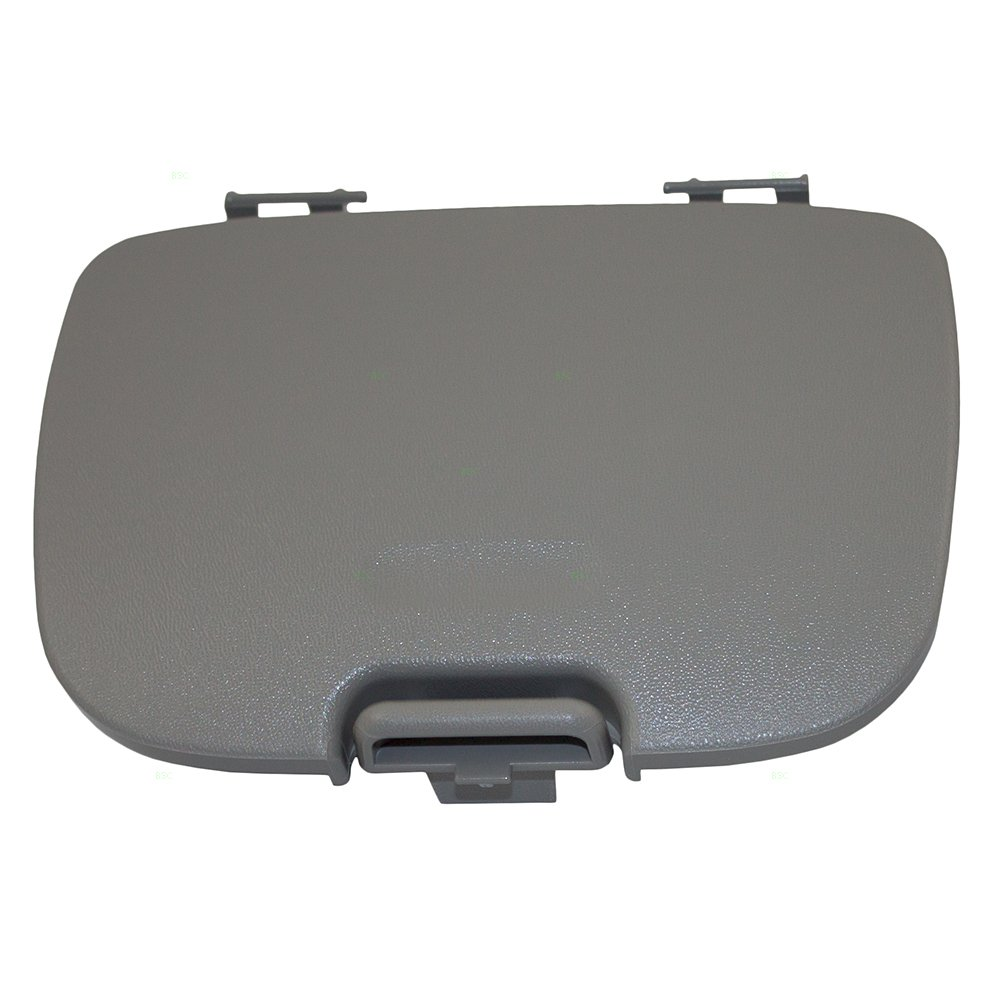 Overhead Console Garage Door Opener Lid Gray Cover Storage Bin Replacement for Ford Explorer & Sport Trac Super Duty Pickup w/out Sunroof 2C3Z7811586CAB AutoAndArt by AUTOANDART