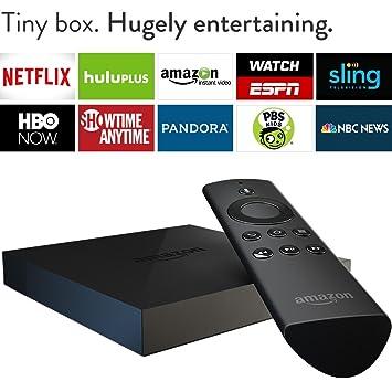 Amazon Fire TV – Previous Generation – Streaming Media Player on back of tivo hd box, shopping box, beaver box, charter hd box, hershey box, mcdonald's box, tv box, people box,