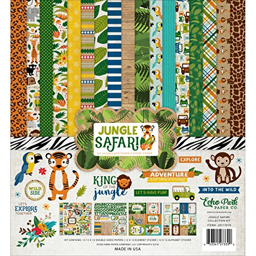 Company Jungle (Echo Park Paper Company JS117016 Jungle Safari Collection Kit)