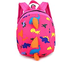 3D Cartoon Kids Harness Backpack Dinosaur Anti-Lost Leash Safety Strap Backpack Walking Travel School Bag Kindergarten Preschool Toddler Zoo Pack for 2-6 Years Old Unisex