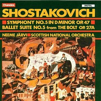 ショスタコーヴィチ:交響曲第5番 他 N・ヤルヴィ/S.N.O