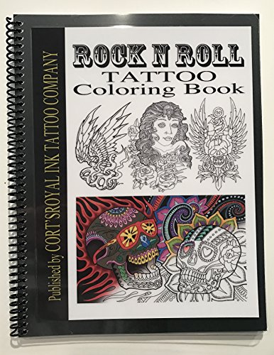 Rock and Roll Tattoo Coloring Book, 50 Pages of Real Tattoo Outlines, Cort's Royal Ink Tattoo Company, Tattoo Flash, Tattoo Art, Tattoo - Tattoo Skull Wing