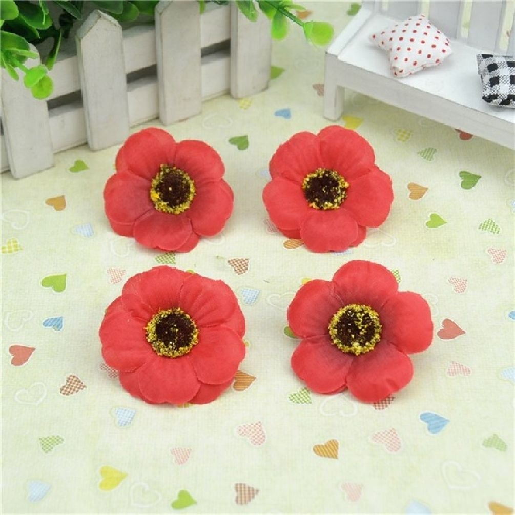Amazon 10pcs 45cm Silk Artificial Poppy Flower Head For