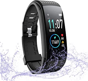 WalkerFit Fitness Tracker with Heart Rate Monitor, Activity Tracker Waterproof Pedometer Smartwatch with Sleep Monitor