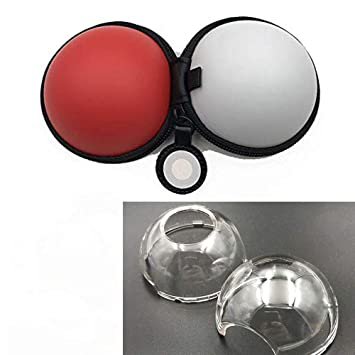 amazon com pokeball go plus clear crystal hard transparent case