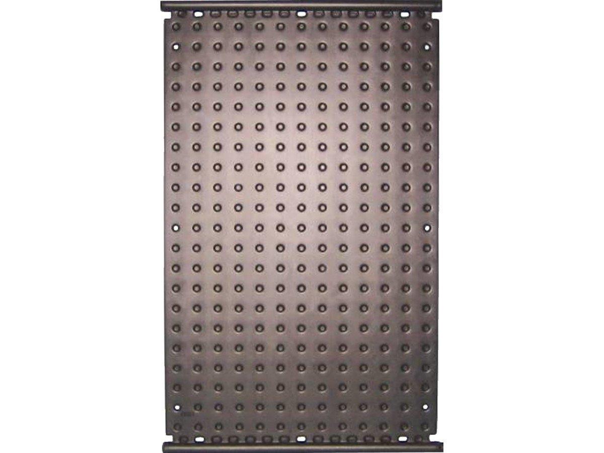 Oku Absorbedor F1002, negro, con 4 manguitos conectores, 38 mm, y con tubo colector integrado a ambos lados de 40 mm de diá metro, medidas: 1320 x 820 mm