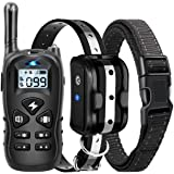 Dog Training Collar, Shock Collar for Dogs with Remote, Rechargeable Dog Shock Collar, with Beep/Vibration/Shock,100% Waterpr