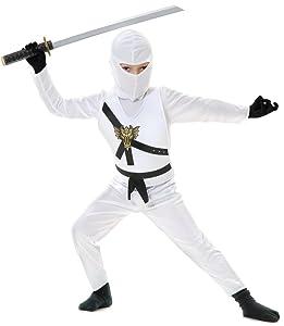Charades Child's Ninja Avenger Costume, White, Small