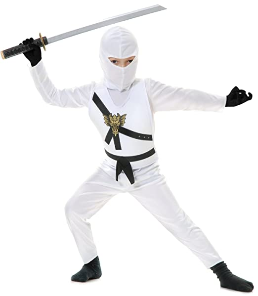 Charades Big Boys disfraz de ninja Avengers Series II, color blanco
