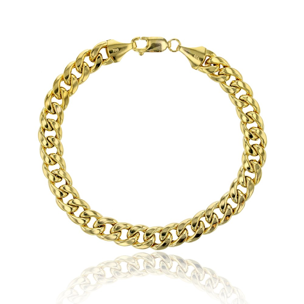 14K Yellow Gold 5.50mm 150 Hollow Miami Cuban Link 8.5'' Chain Bracelet
