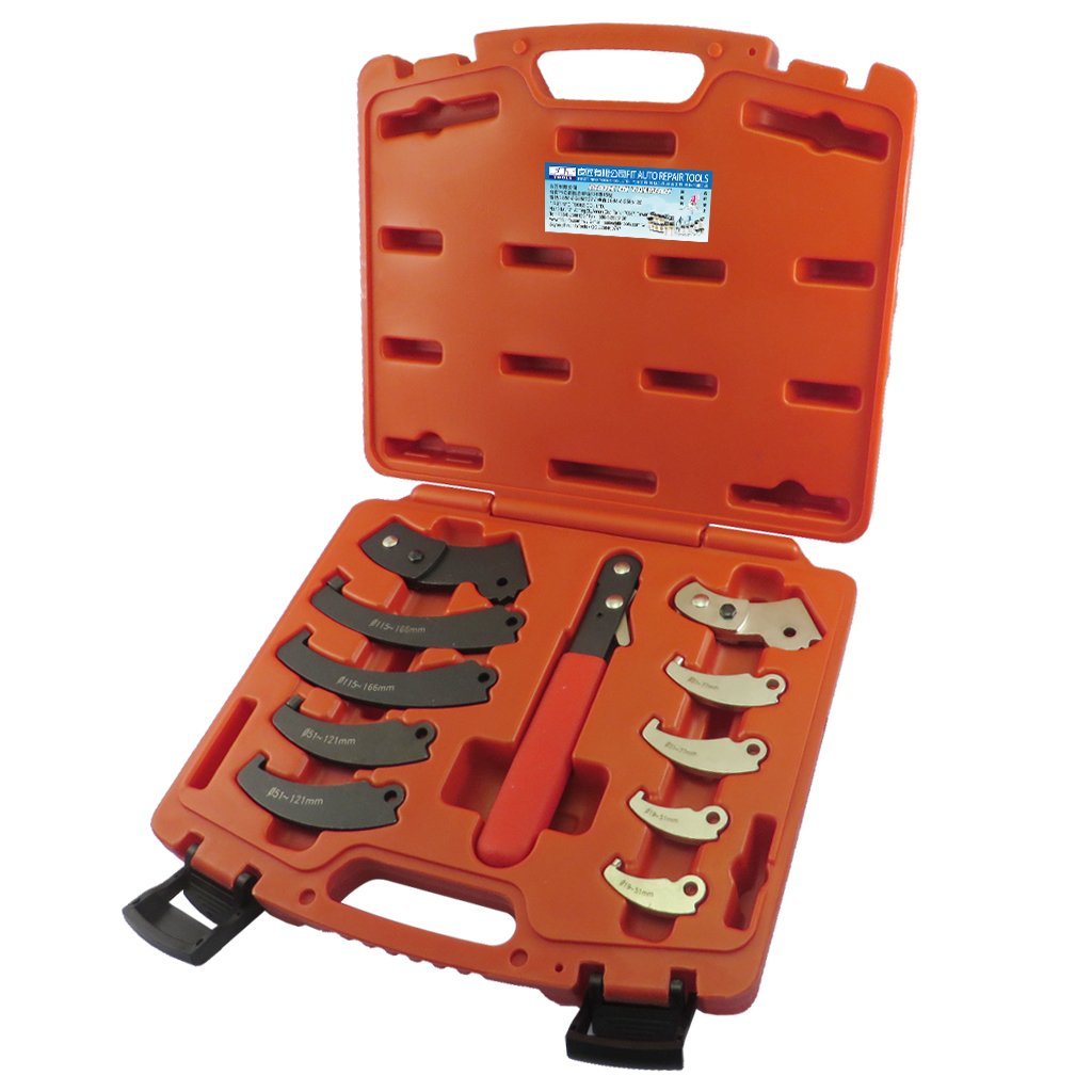Fit Tools Universal 11 Piece Adjustable Pin Spanner Wrench Set