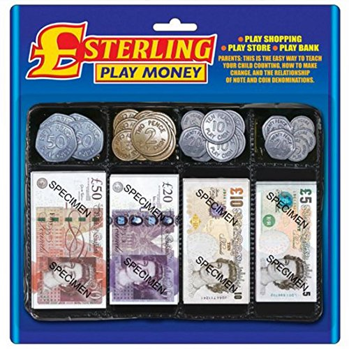 Sterling Pretend Play Money Set For Role Play Games by Carousel Carousel Toys