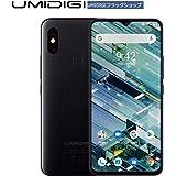 UMIDIGI F1 SIMフリースマートフォン Android 9.0 5150mAh大容量バッテリー 18W高速充電 6.3インチ FHD+ 大画面 ノッチ付きディスプレイ 128GB ROM + 4GB RAM Helio P60オクタコア 16MP+8MPデュアルリアカメラ 技適認証済み 顔認証 指紋認証 NFC対応 auキャリア不可 (ブラック)
