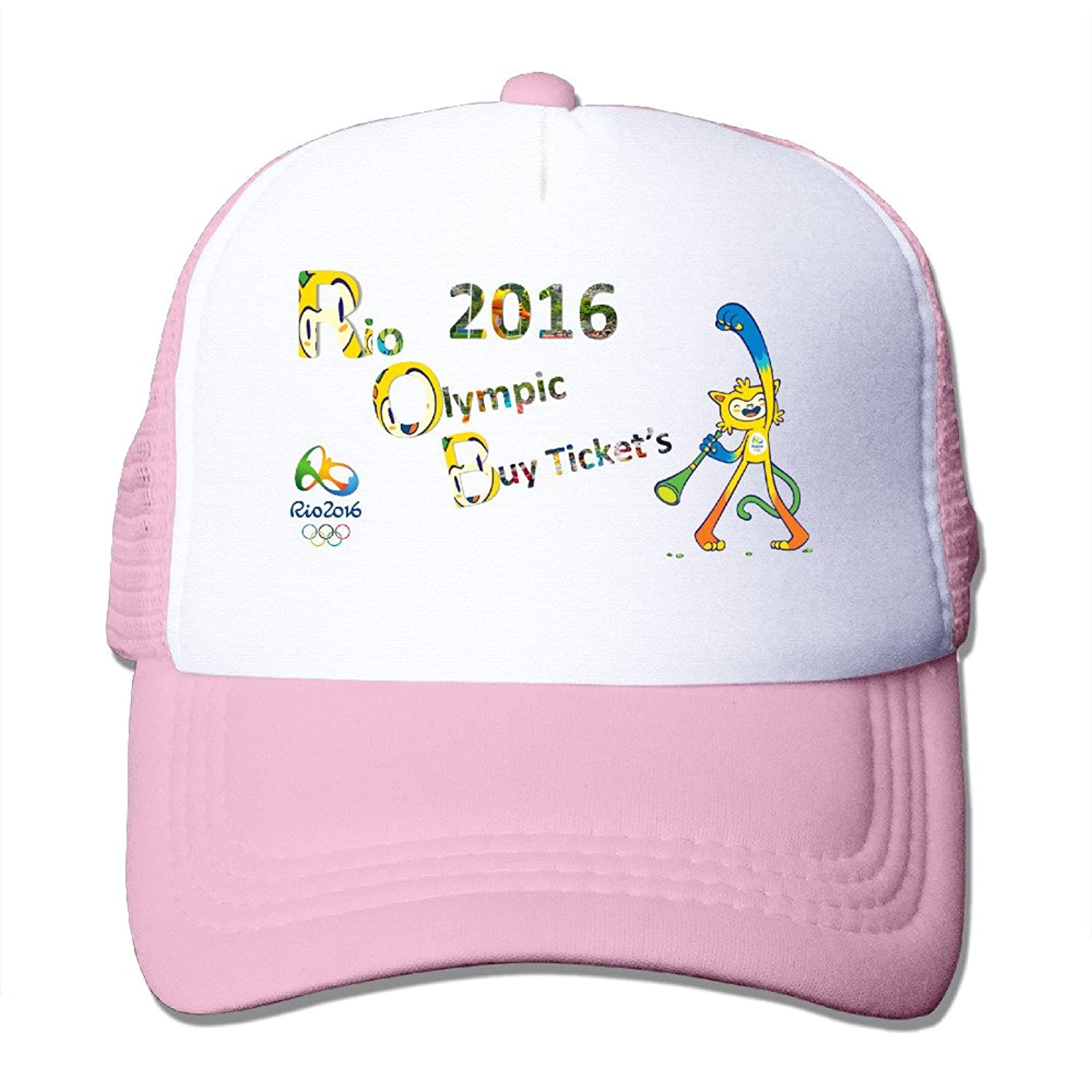 Funny Sayings Rio2016 Mascots Adult Nylon Adjustable Mesh Hat Mesh Hats RoyalBlue One Size Fits Most