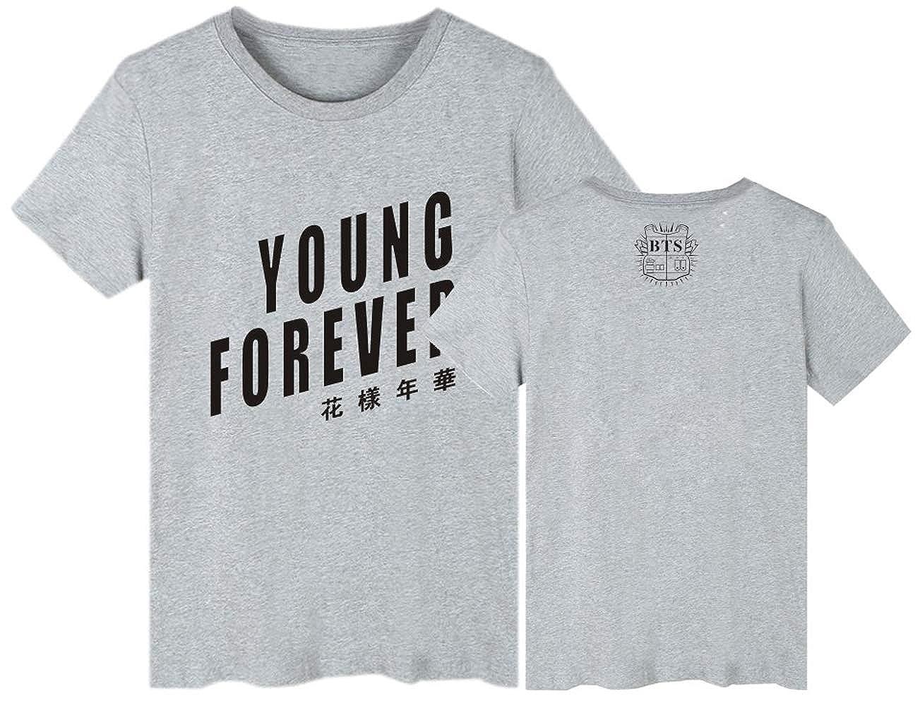 Leslady Unisex Camicie Estate Top KPOP Bangtan Boys BTS T-Shirt e di Save Me Concert per Army