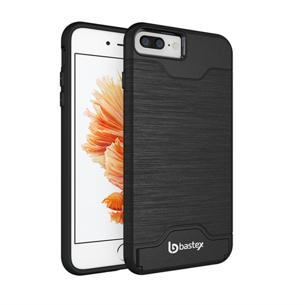 Iphone 7 Plus Case Bastex Hybrid Slim Fit Black Rubber Silicone Cover Hard Pl.. 14