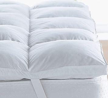 Colchón de microfibra HIGH LIVING ® con relleno pesado súper suave de 2 y 4 pulgadas: Amazon.es: Hogar
