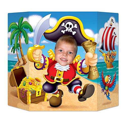 Beistle Pirate Photo Property, 3-Feet 10-Inch by 25-Inch, Multicolor -