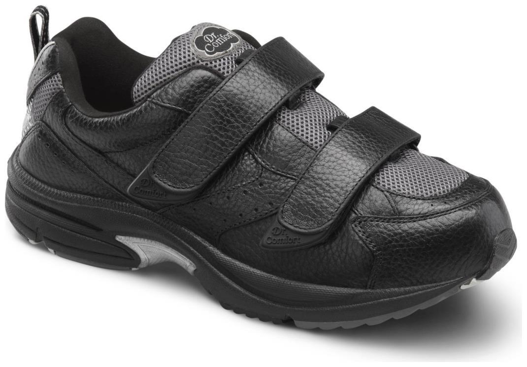 Dr. Comfort Winner-X Mens Casual Shoe Black Wide Size 12