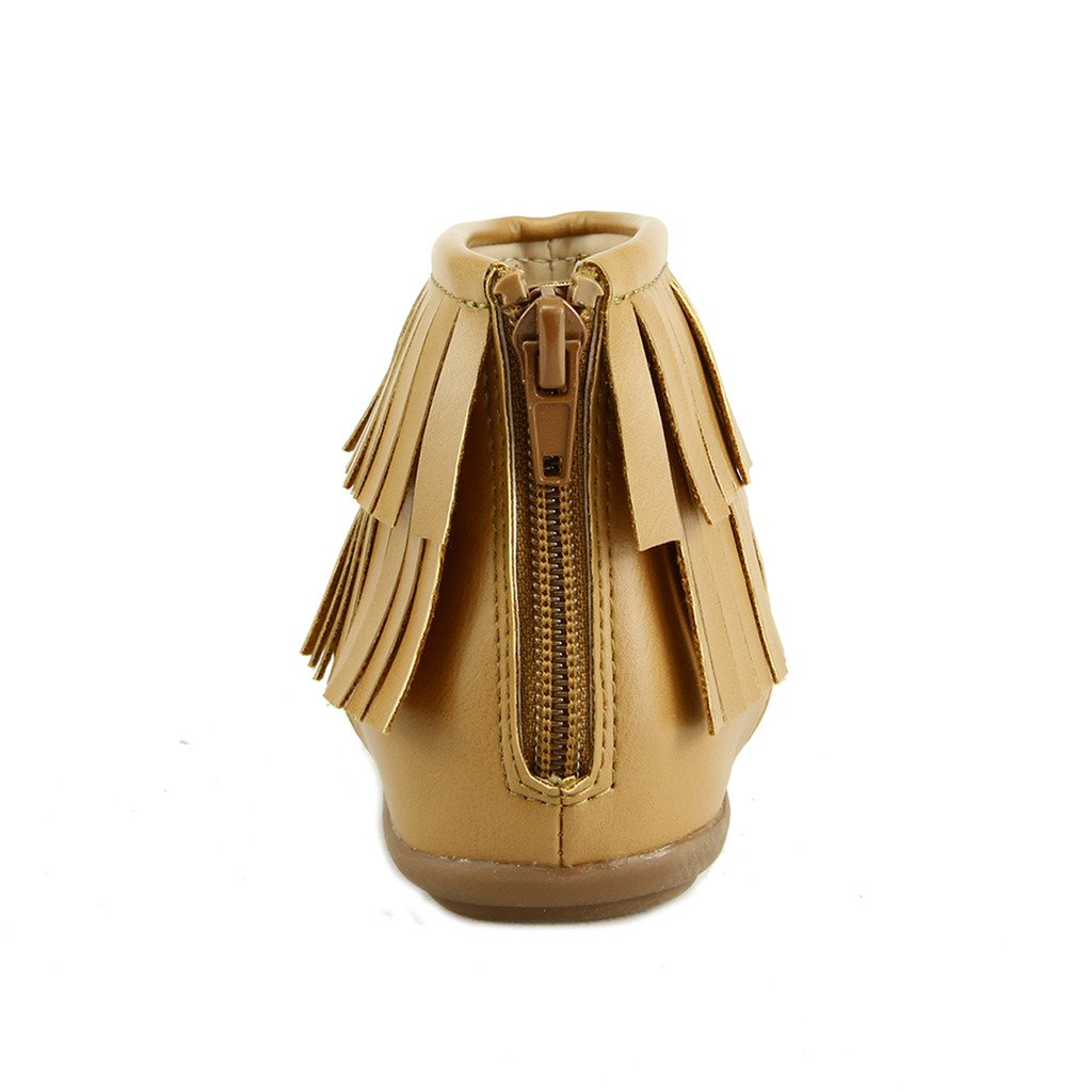 The Doll Maker T Strap Fringe Flat