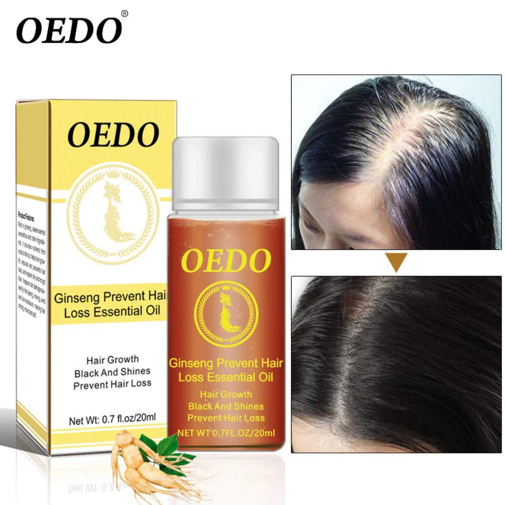 Natural Ginseng Oil For Hair Care Shouhengda Hair Growth Essential Oils Essence Hair Loss Liquid Health Care Beauty Dense Hair Growth Serum