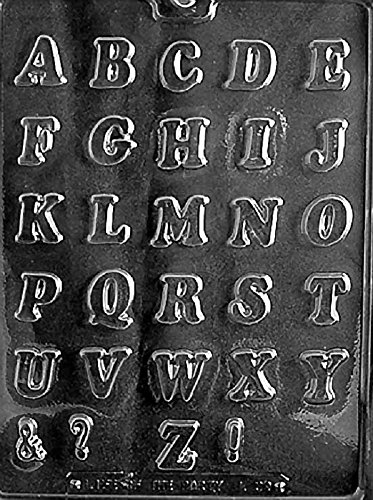 Grandmama's Goodies L039 Letters A - Z Chocolate Candy Soap Mold with Exclusive Molding Instructions