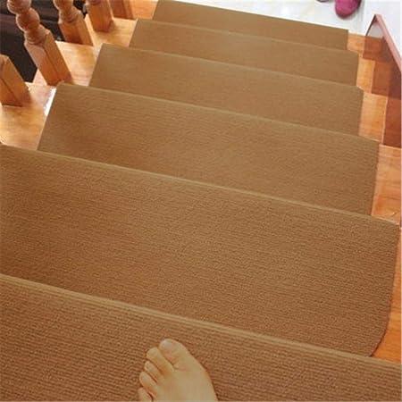 1/4 / 8pcs / set Alfombrillas para escaleras Alfombra adhesiva antideslizante Peldaños para escaleras Alfombrillas para escaleras