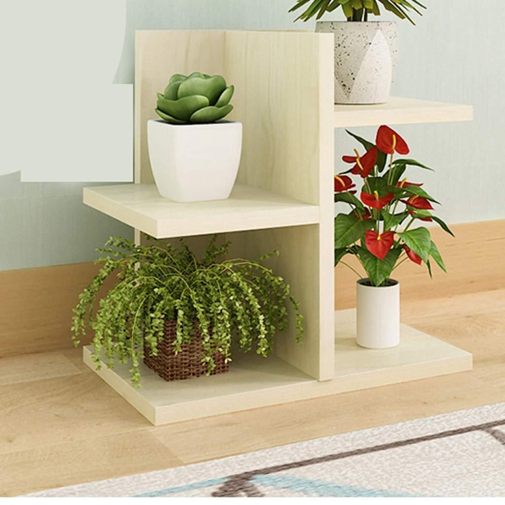 JSSFQK Flower Stand Balcone Mini Desktop in Legno Multistrato a Forma di Fiore Decorazione per Ufficio Marronee Bianco 15.5  31.5  31.5CM Stand di Fiori (colore   Bianca)
