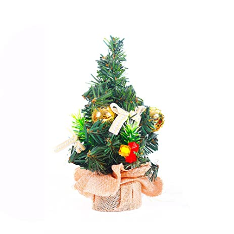 tabletop christmas tree 83in miniature christmas ornaments diy for festival holiday delicate decor yellow - How To Make Miniature Christmas Decorations