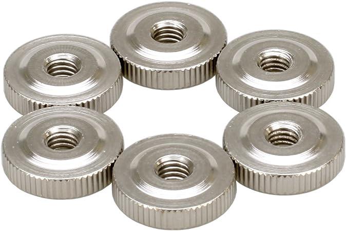 m8 steel burnish Flat knurled nut